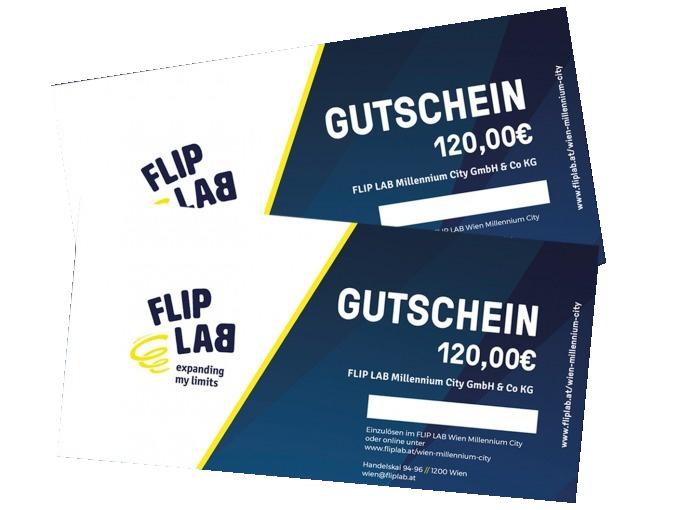 Gutscheine kaufen - FLIP LAB Wien Millennium City